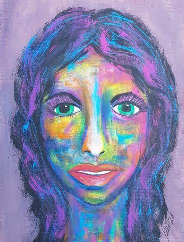 Abstraktes Portrait Acryl
