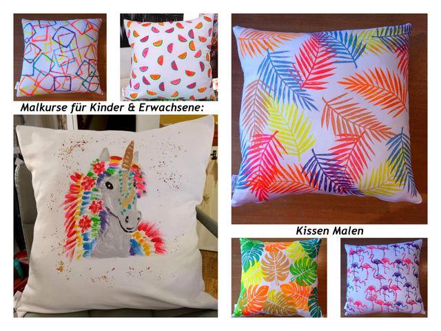 MALEN AUF TEXTILIEN (kissen, T-shirts, ...)