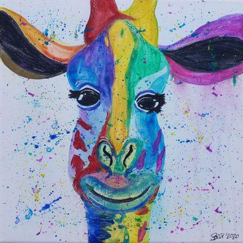 Kids Workshop - Farbenfrohe Giraffe