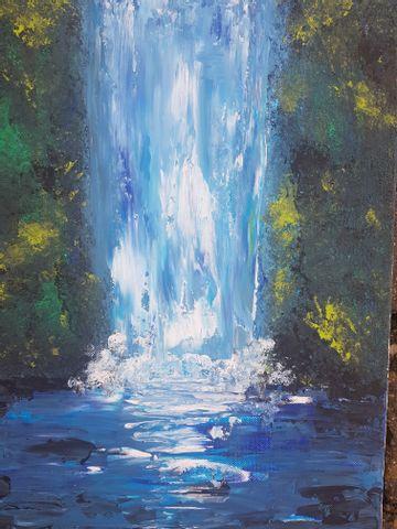 Abstrakter Wasserfall