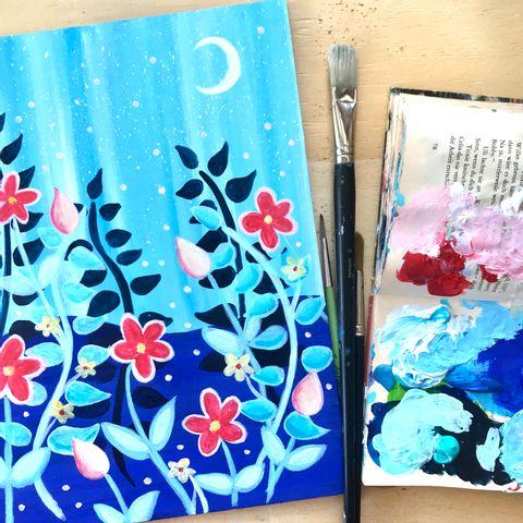 Zeit für dich! Zoom Malen mit Malzauber: Sommerabend