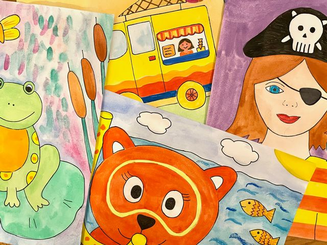 Sommerkurs Malzauber Live Online Malkurse für Kinder – Montag