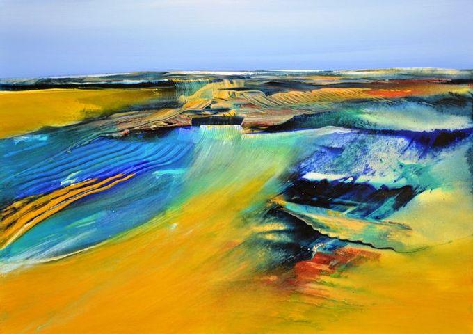"""Acrylmalereikurs """"Von Idee und Experiment zur Landschaft"""""""