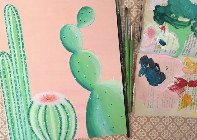 Zeit für dich! Online Live Malen mit Malzauber: Kaktus